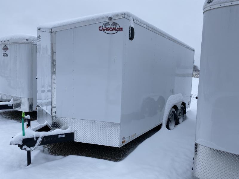 2020 8x16 TA Cargo Mate EHW816TA2 Enclosed Cargo Trailer - Double Door - Sloped Roof - Slant V-Nose (GVW:  7000)