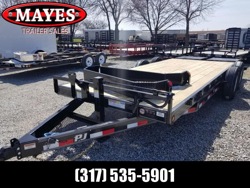 "2019 83x20 6"" Channel  PJ Trailers CC202 Equipment Trailer - Monster Ramps (GVW:  14000)"
