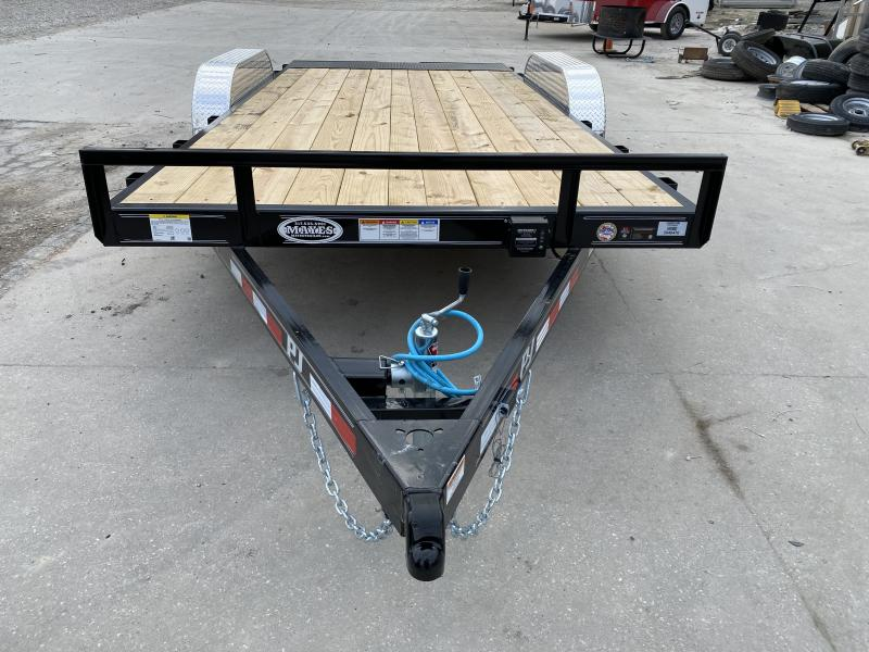 2020 83x16 PJ Trailers C5 Car / Racing Trailer - Straight Deck w/ Rear Slide-in Ramps (GVW: 7000)