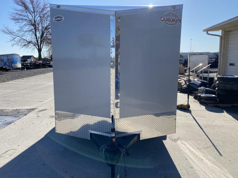 2021 7x12 SA Cargo Mate EHW712SA Enclosed Cargo Trailer - Two-Tone - .030 Metal Upgrade - 6 Inch Additional Height - Ramp Door - Slant V-Nose (GVW:  3500)