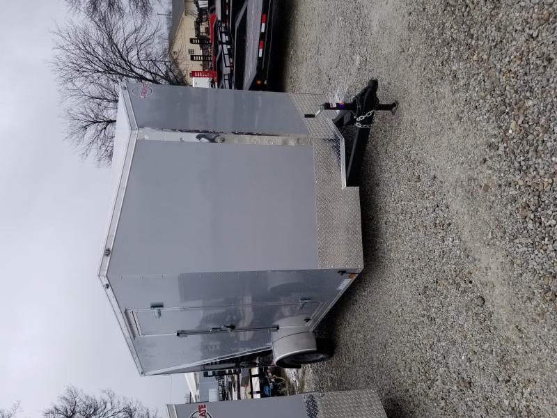 2021 7x12 SA Cargo Mate EHW712SA Enclosed Cargo Trailer - Two-Tone - .030 Metal Upgrade - 6 Inch Additional Height - Ramp Door - Slant V-Nose (GVW:  3500)