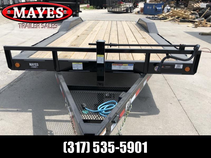 2020 102x20 Foot (18+2) TA PJ Trailers B6202 Equipment Trailer - Dovetail - Slide In Ramps - 6