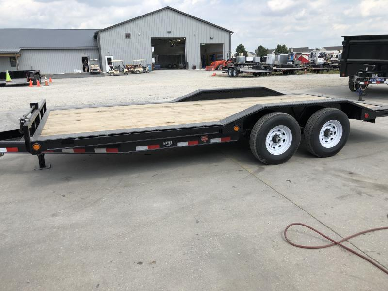 2020 102x20 Foot (18+2) TA PJ Trailers B6202 Equipment Trailer - Dovetail - Slide In Ramps - 6