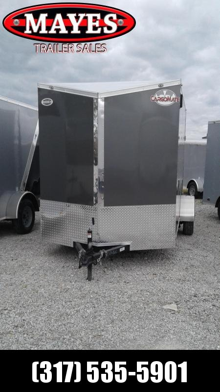 2021 Cargo Mate EHW612SA Enclosed Cargo Trailer - 6x12 SA - .030 Metal Upgrade - Side by Side Package - Ramp Door - 6.5 WIDE FRAME - D-Rings - 12 Inch Additional Height - Slant V-Nose (GVW:  2990)