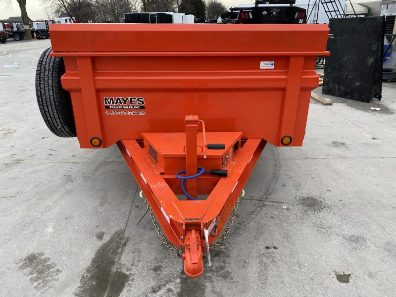 2020 72x12 TA Load Trail DT7212052 Dump Trailer - 3-Way Gate - Rear Slide In Ramps - Spare Tire MOUNT ONLY - Scissor Hoist (GVW:  9990)