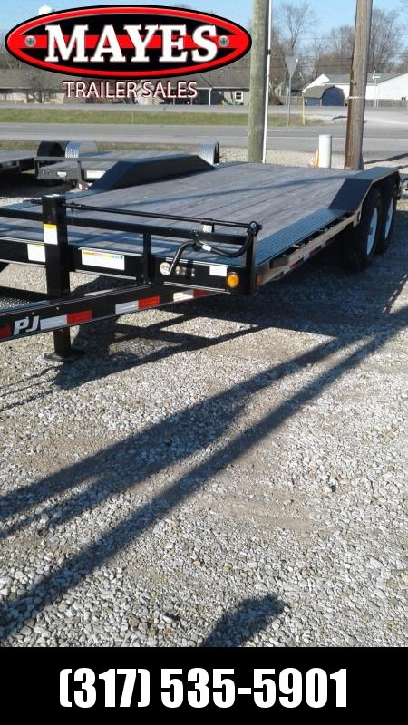"2019 96x20 PJ Trailers B6 6"" Channel Super-Wide Trailer - Straight Deck w/ 5' Slide-in Ramps (GVW: 14000)"