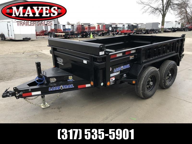 2020 72x10 TA Load Trail DT7210052 Dump Trailer - 18 Inch Dump Sides - 3-Way Gate - Side Mount Ramps - Tarp Kit (GVW:  9990)