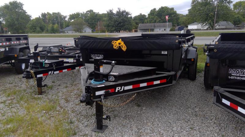 2020 83x16 PJ Trailers Low Pro Dump (DL) Dump Trailer - Tarp Kit - 10k Jack - Full Size Divided Toolbox - (GVW: 14000)(6in Cylinder Upgrade)