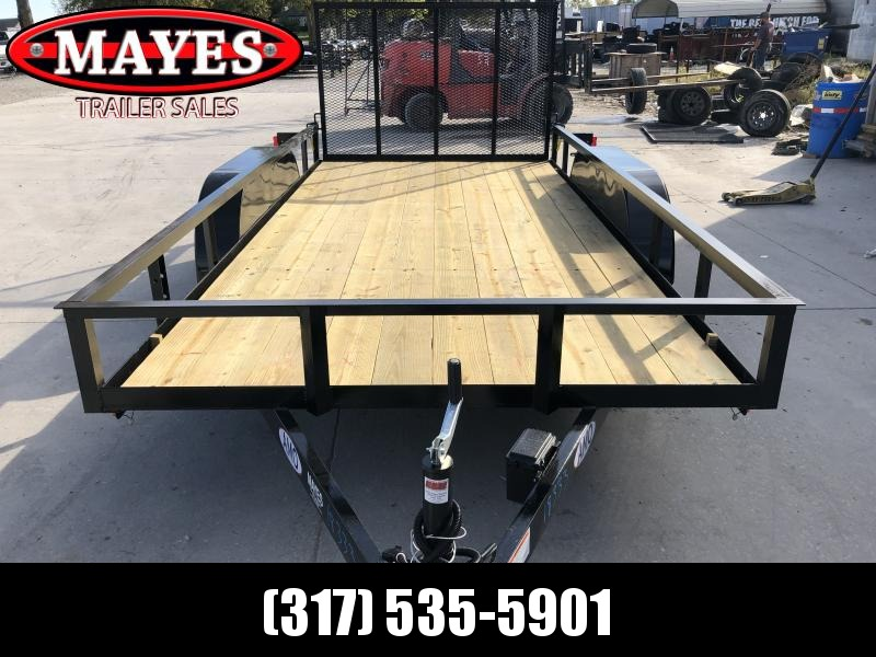 2020 76x14 TA AMO UT142 Utility Trailer - Treated Wood Floor - Tailgate (GVW:  7000)