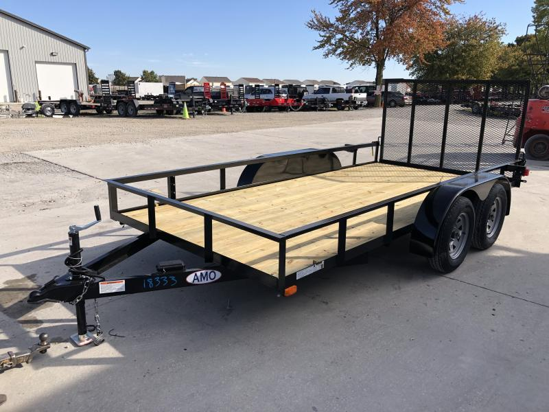 2020 76x14 TA AMO UT142 Utility Trailer - Treated Wood Floor - Tailgate (GVW:  7000)