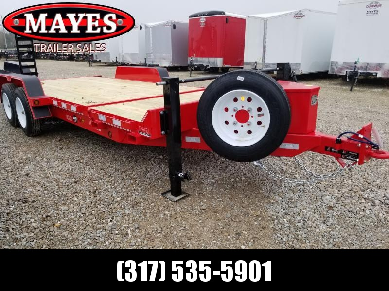 2020 83x20 (4+16) B-B TBCT2016ET Equipment Tilt Trailer - Hydraulic Power Tilt - Dual Speed Jacks - Spare and Mount (GVW:  16000)