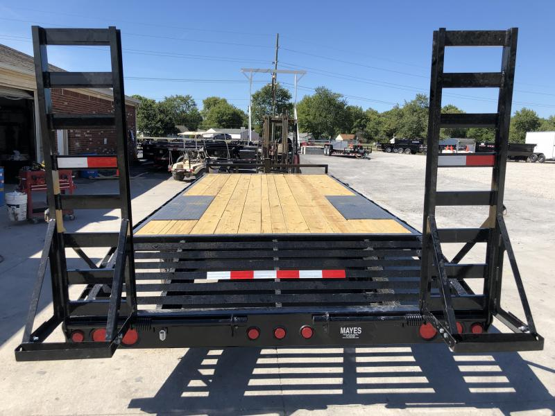 2020 102x20 (17+3) TA Deckover PJ Trailers F8202 Equipment Trailer - Dovetail - Fold Up Ramps (GVW:  14000)