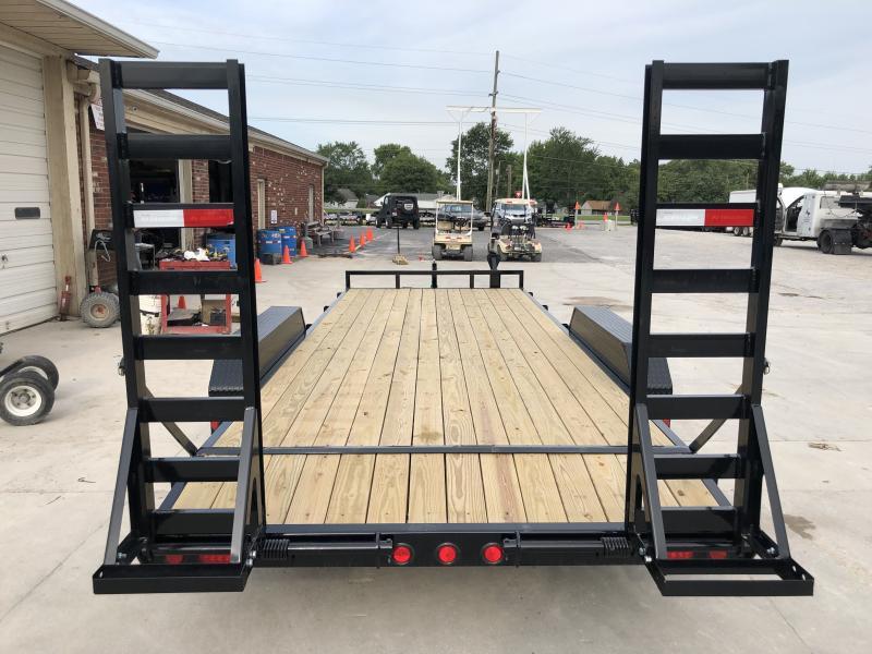 2020 83x20 Foot (18+2) TA PJ Trailers CE202 Equipment Trailer - Fold Up Ramps (GVW:  9899)