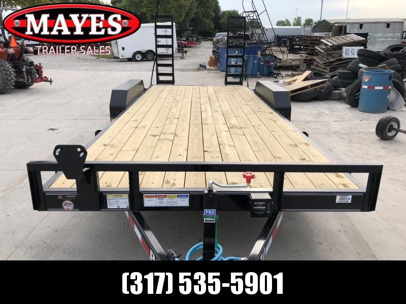 2020 83x20 Foot (18+2) TA PJ Trailers CE202 Equipment Trailer - Fold Up Ramps (GVW:  9899)