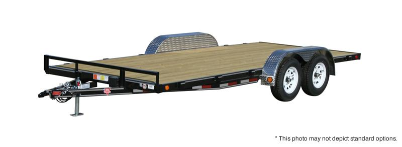 "2020 83x20(18+2) PJ Trailers C4 4"" Channel Carhauler Trailer - w/ Side Slide-in Ramps (GVW: 7000)"