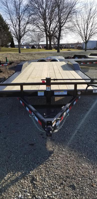 2019 102x22 PJ Trailers B6222 Trailer  - Straight Deck - Slide In Ramps (GVW:  14000)