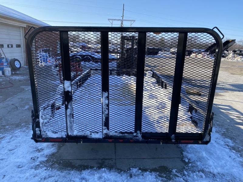 2020 83x14 SA PJ Trailers U8141 Utility Trailer - Straight Deck - Fold In Gate - ATV Ramps (GVW:  2995)