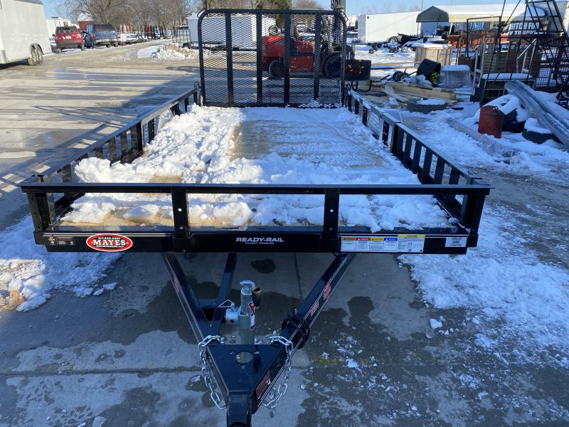 2020 83x14 SA PJ Trailers U8141 Utility Trailer - Straight Deck - Fold In Gate - ATV Ramps (GVW:  2995)