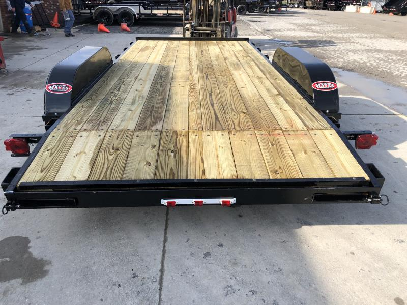 2020 82x16 (14+2) TA AMO UT162 Flatbed Trailer - Wrapped Tongue - Treated Wood Floor - Rear Slide In Ramps (GVW:  7000)