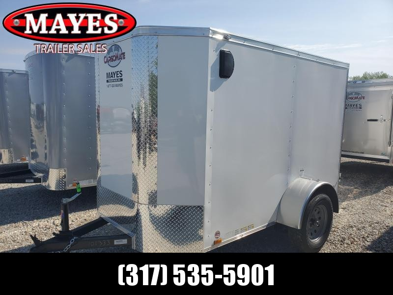 2020 5x8 SA Cargo Mate EHW58SA Enclosed Cargo Trailer - Rear Door - 6 Inch Additional - Tapered Nose (GVW:  2990)