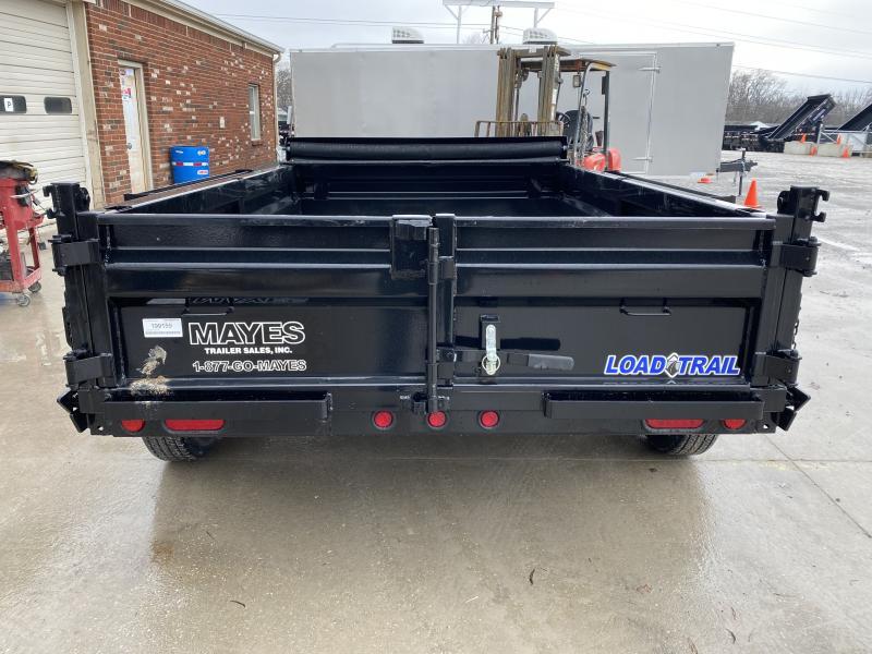 2020 72x10 TA Load Trail DT7210032 Dump Trailer - Tarp Kit - 18 Inch Dump Sides - 3-Way Gate - Scissor Hoist (GVW:  7000)
