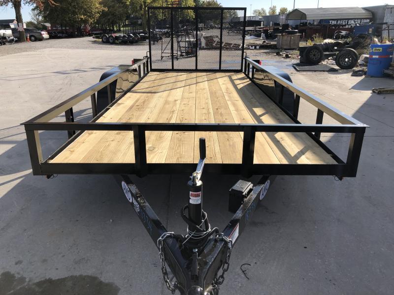 2020 76x16 TA AMO UT162 Utility Trailer - Treated Wood Floor - Tailgate (GVW:  7000)