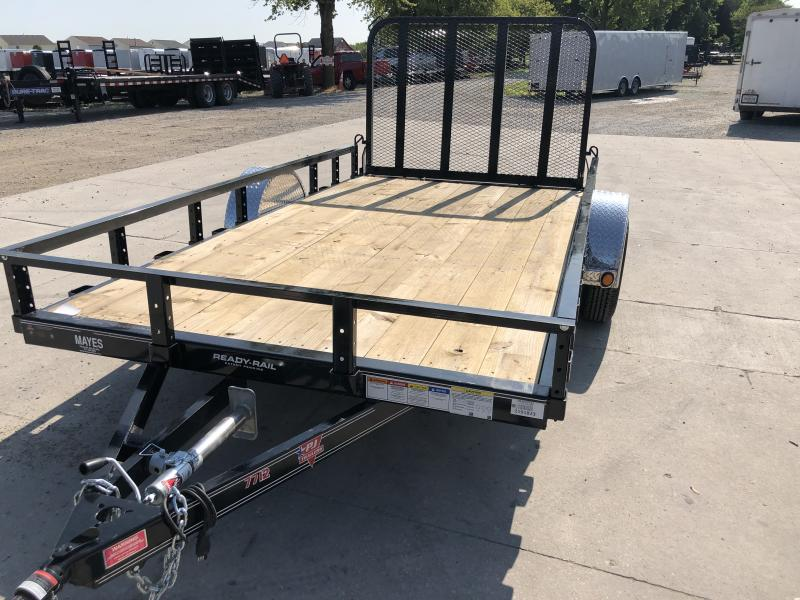 2019 77x12 SA PJ Trailer - Straight Deck - Fold In Gate (GVW:  2995)