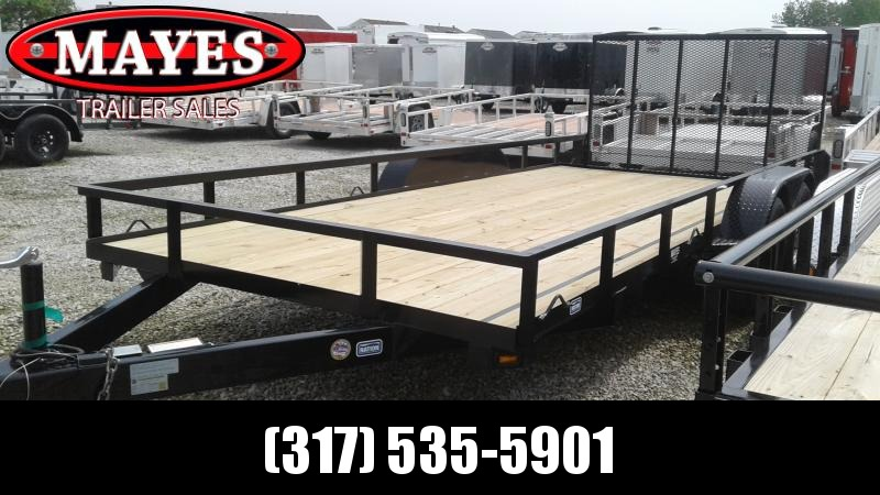 2019 83x18 (16+2) Nation Tank and Trailer 83x18 Haul All Utility Trailer - Tailgate (GVW:  7000)