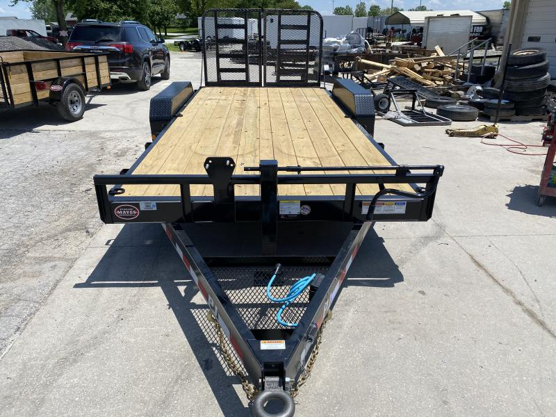 2020 83x18(16+2ft Dovetail) PJ Trailers CC Equipment Trailer - w/ Split HD Gate (GVW: 14000)