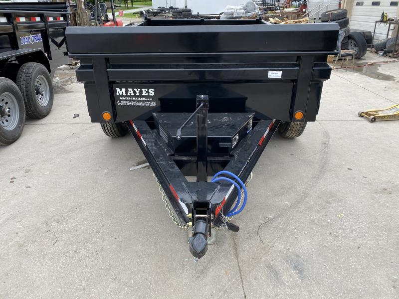 2020 72x10 Load Trail DT10 Dump Trailer - (Black Powdercoat)(Split/Spreader Gate)(Tarp Kit)(18in Sides)(Ramps)(GVW: 14000)