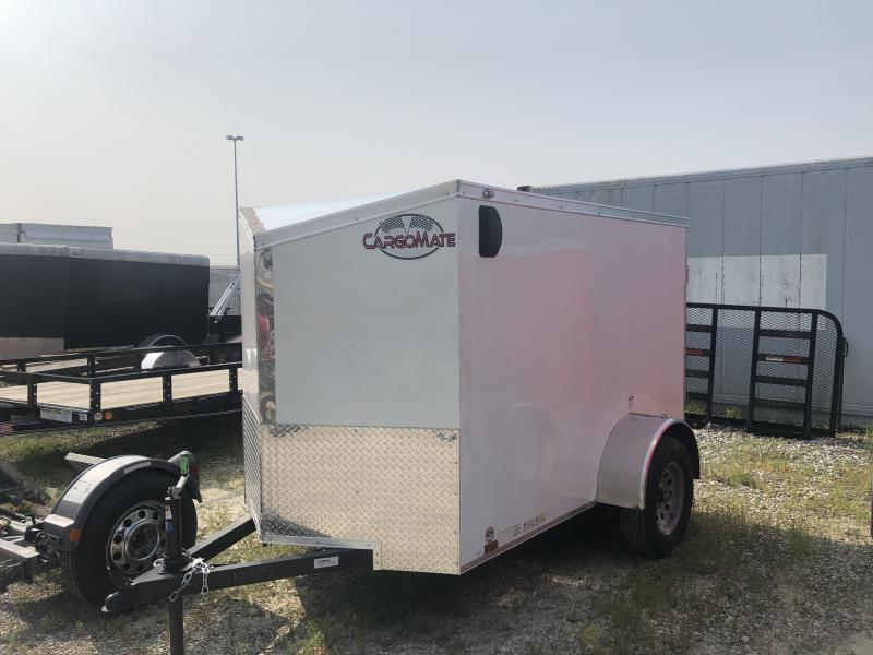 2020 5x8 SA Cargo Mate EHW58SA Enclosed Cargo Trailer - Ramp Door - Slant V-Nose (GVW:  2990)