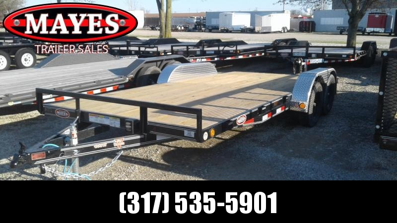 2020 83x18(16+2) PJ Trailers C4 Car / Racing Trailer - w/ Side Slide-in Ramps (GVW: 7000)