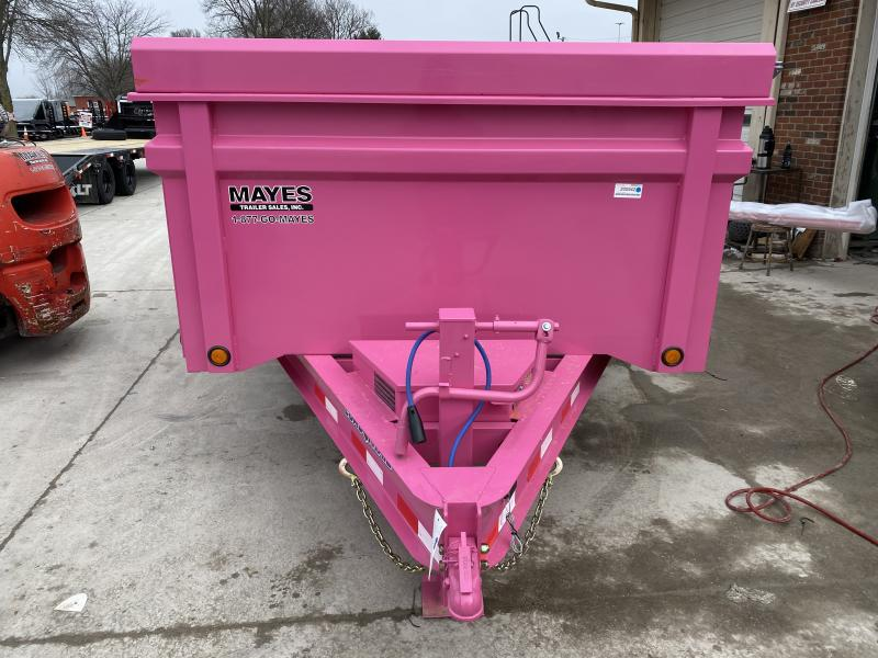 2020 83x14 TA Load Trail DT8314072 Dump Trailer - 36 Inch Dump Sides - 3 Way Gate - Rear Slide In Ramps - Scissor Hoist - Spare Tire and Wheel (GVW:  14000)