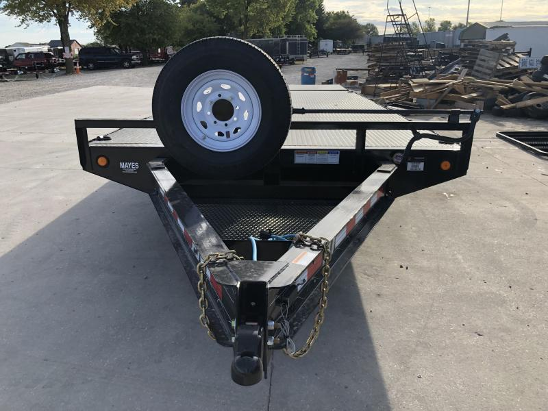 2020 102x22 (18+4) TA PJ Trailers F8222 Equipment Trailer - 8 Inch I-Beam Deckover - Steel Floor - D-Rings (GVW:  14000)
