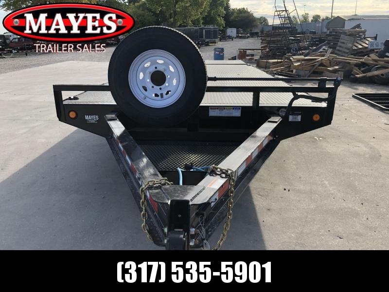 2020 102x22 (18+4) TA PJ Trailers F8222 Equipment Trailer - 8 Inch I-Beam Deckover - Steel Floor - D-Rings (GVW:  14000)
