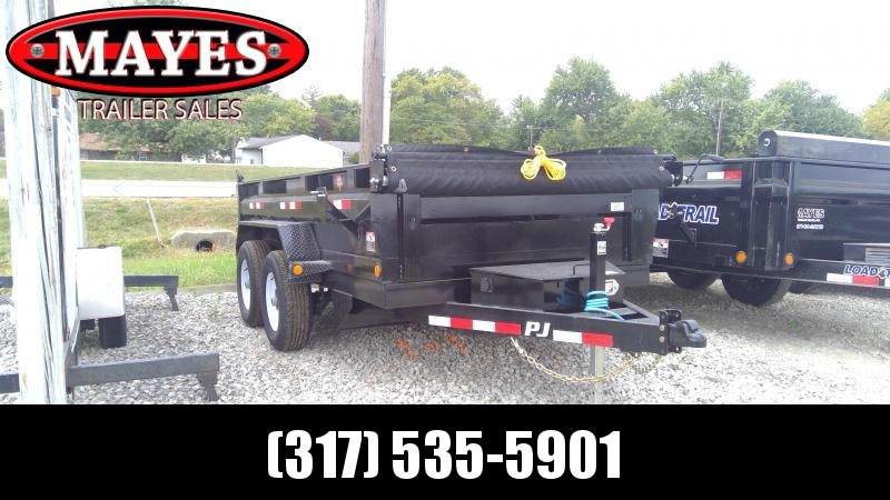 2020 72x12 TA PJ Trailers D3122 Dump Trailer - Ramps - Tarp Kit - Split/Spread Gate (GVW:  9899)