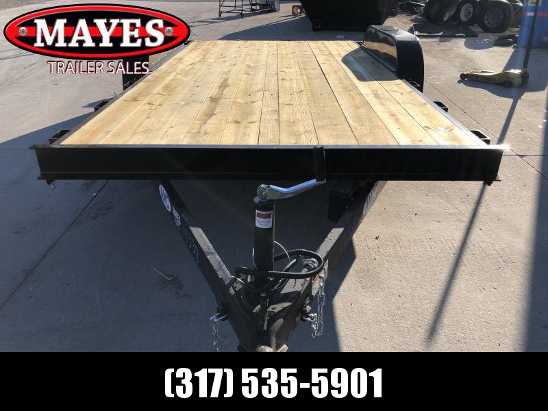 2020 82x16 (14+2) TA AMO UT162 Utility Trailer - Treated Wood Floor - Slide-In Ramps (GVW:  7000)