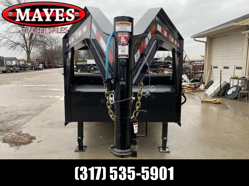 2020 83x16 TA Low Pro Gooseneck PJ Trailers DL162 Dump Trailer - Split/Spread Gate - Tarp Kit (GVW:  15680)