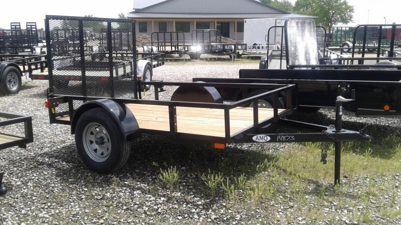 2019 5x8 SA American Manufacturing Operations (AMO) US081 Utility Trailer - Spring Assist Tailgate (GVW:  2990)