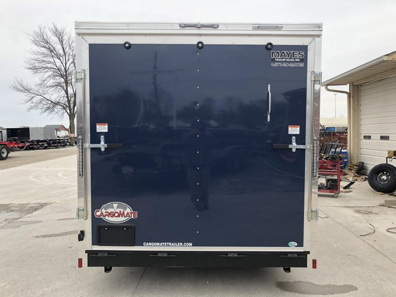2020 7.5X16 TA Cargo Mate EHW716TA2 Enclosed Cargo Trailer - 7.5 Wide Body - Side by Side Pkg. - 12 Inch Additional Height - D-Rings (GVW:  7000)