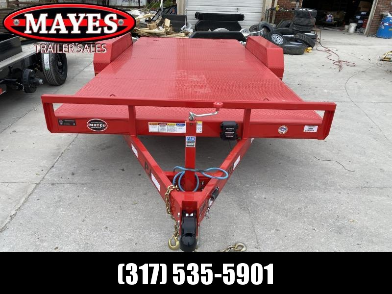 2020 PJ Trailers CE162 Equipment Trailer - 83x16 TA - Straight Deck - Steel Floor - D-Rings - Slide In Ramps (GVW: 9899)