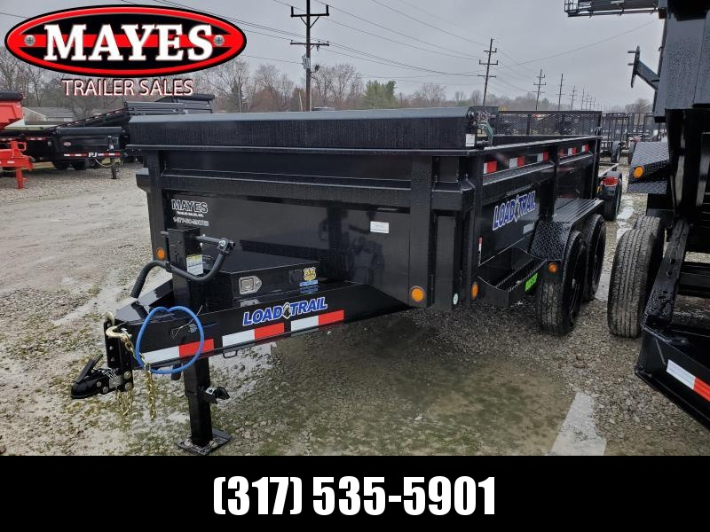 Used 2020 83x12 TA Load Trail DT8312072 Dump Trailer - 24 Inch Dump Sides - 3 Way Gate - Slide In Ramps - Tarp Kit (GVW:  14000) *USED*