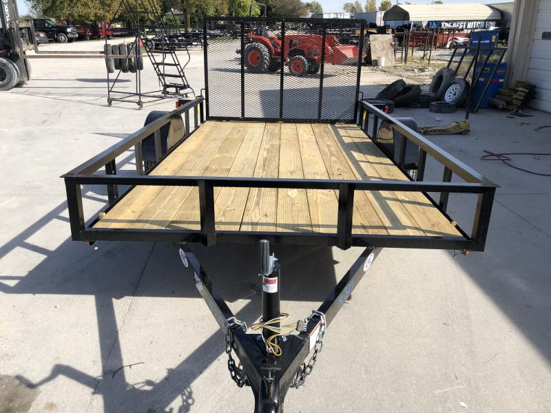 2020 76x12 SA AMO US121 Utility Trailer - Treated Wood Floor - Tailgate (GVW:  2990)