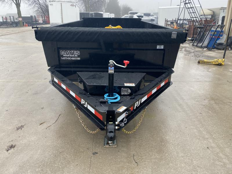 2020 83x14 Low Pro PJ Trailers DL142 Dump Trailer - Split/Spread Gate - Tarp Kit - Spare Tire MOUNT ONLY (GVW:  14000)