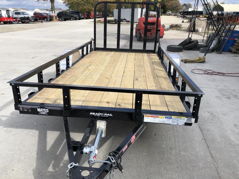 2020 72x12 SA PJ Trailers U2121 Utility Trailer - Straight Deck - Fold In Gate (GVW:  2995)