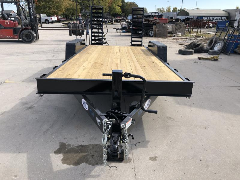 2020 82x18 (16+2) TA AMO UG182 Equipment Trailer - Treated Wood Floor - Dovetail - Flip Up Ramps (GVW:  14000)