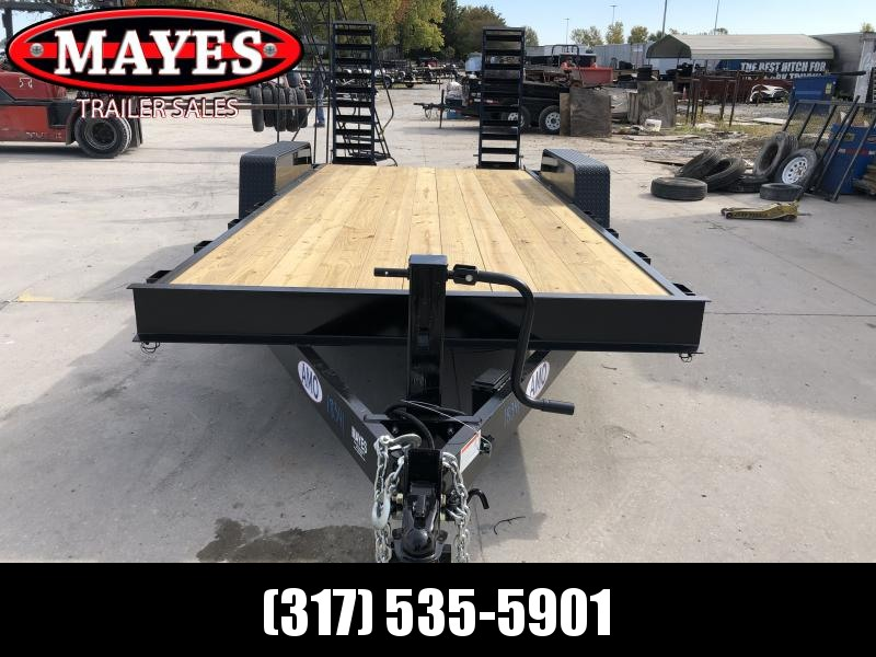 2020 82x18 (16+2) TA AMO UG182 Equipment Trailer - Treated Wood Floor - Dovetail - Flip Up Ramps (GVW:  14000)