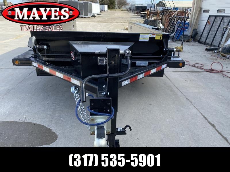 2020 B-B 76x14 TA Drop Down HDT1414E Equipment Trailer - Steel Floor - D-Rings - Power Up/Gravity Down (GVW:  14000)