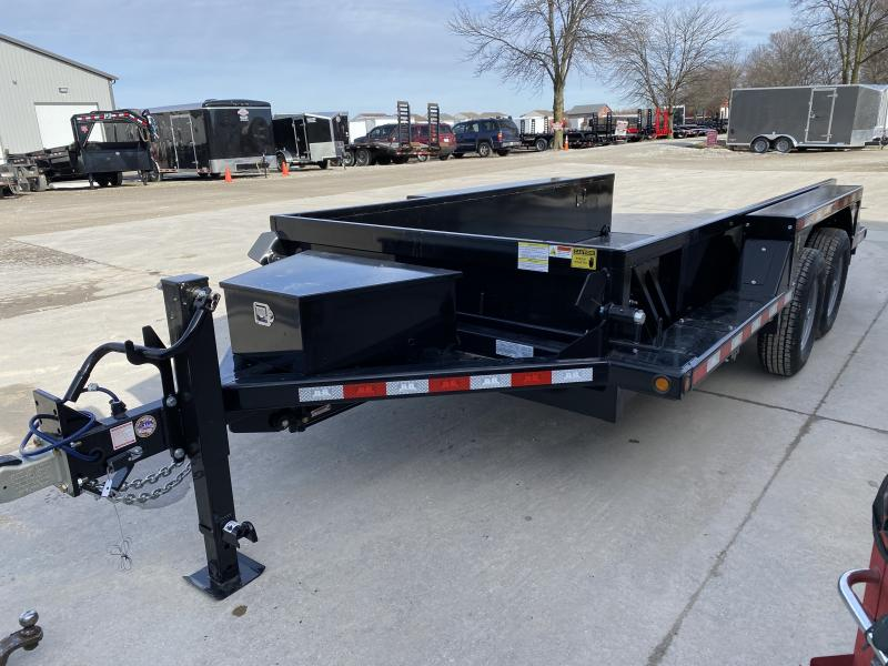 2020 B-B 76x14 TA Drop Down HDT1414E Equipment Trailer - Steel Floor - D-Rings - Power Up/Gravity Down (GVW:  14000)