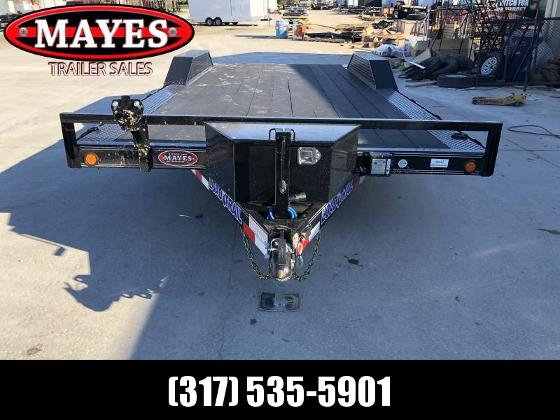 2020 102x20 (18+2) TA Load Trail CH0220052 Car / Racing Trailer - Blackwood Pro Floor - Drive Over Fenders - Rear Slide In Ramps - Tool Box (GVW:  9990)